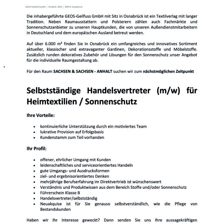 Stellenanzeige-Sachsen